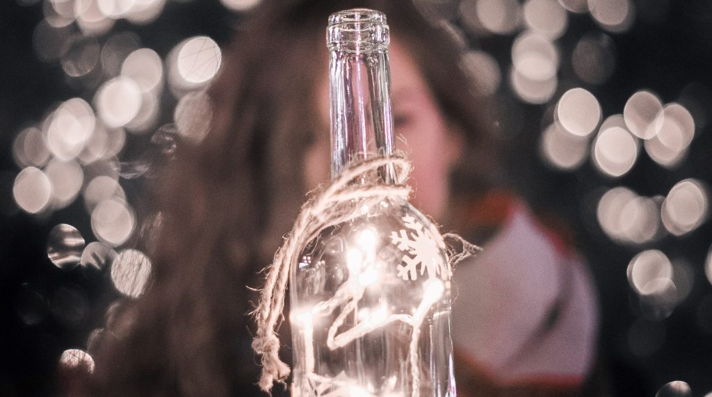 Wine bottles can make great light features - SECCO Wine Club
